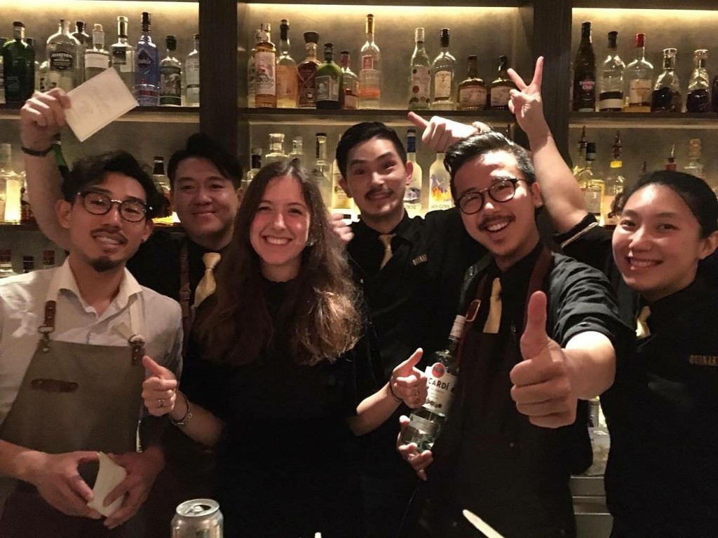Companion guest bartending shift in Quinary, Hong Kong